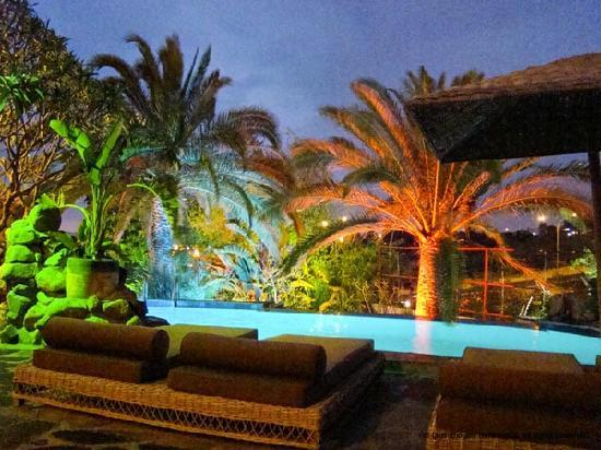 Guesthouse Terra Africa: pool at night