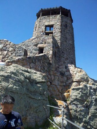 Lookout at top of Harney Peak.