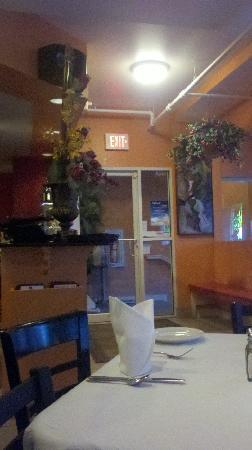 Mariachi: Picture from our table to the front door