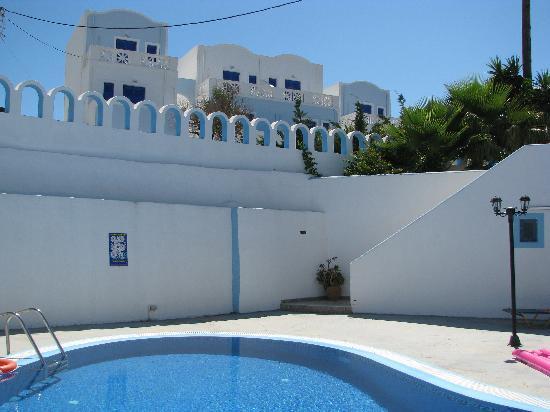 Villa Pelekanos: zona piscina