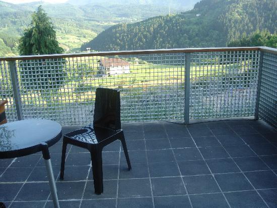Ellauri Hotela: terraza