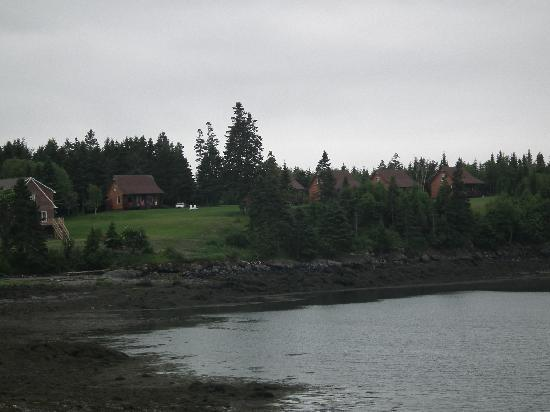 An Island Chalet: From across the cove, low tide!