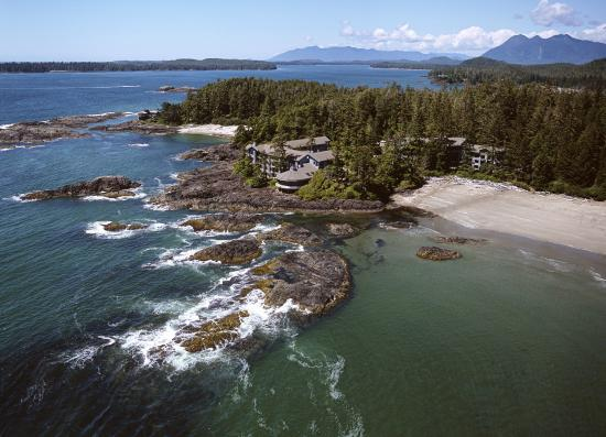 Wickaninnish Inn and The Pointe Restaurant: Aerial of the Wickaninnish Inn