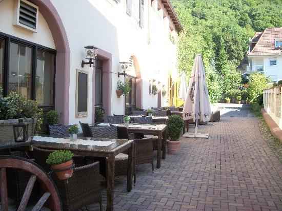Badenweiler, Duitsland: en terrasse ...