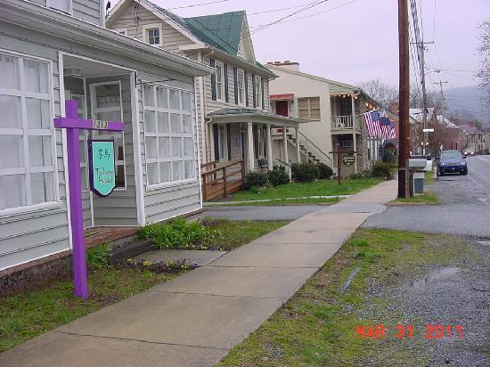 Teahorse Hostel and street scene