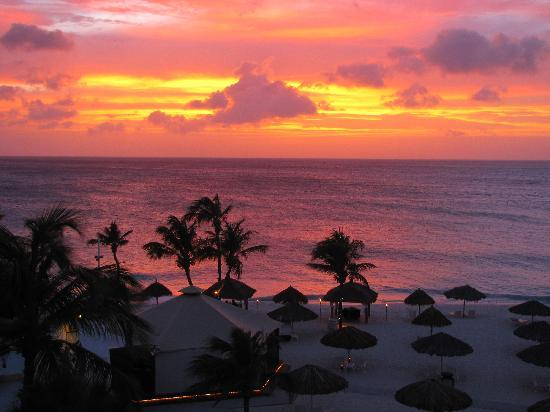 Bucuti Tara Beach Resort Aruba Sunset From Our Suite