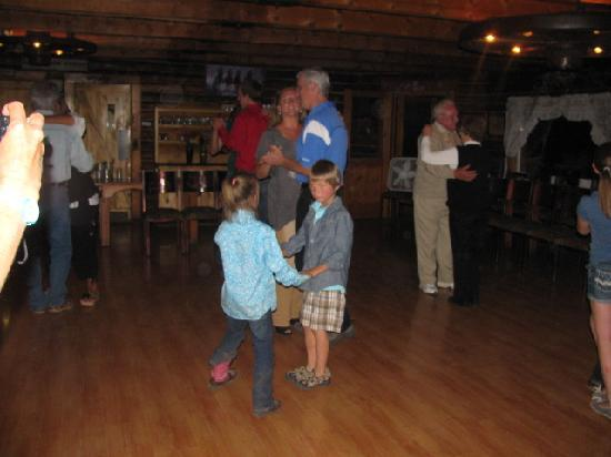 Wilderness Trails Ranch: learning to dance and meeting new friends