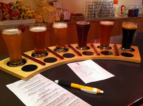 Right Brain Brewery: sampler!! :)