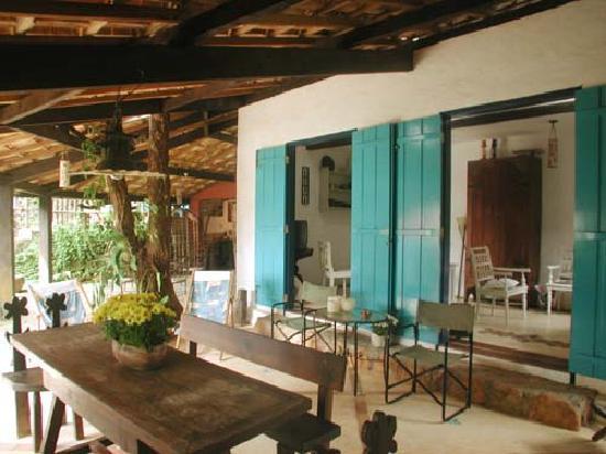 Pousada Rosa de Picinguaba: Breakfast area / exhibition room