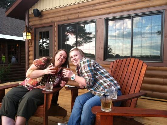 Manitowish Waters, WI: enjoying drinks at the Little Bohemia