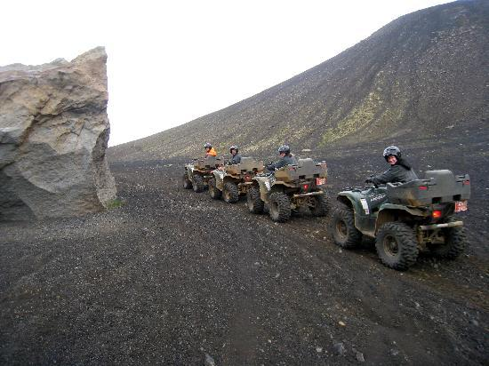 "Reykjavik By Day & Night: ATVing in volcanic ""moon-like"" valleys."