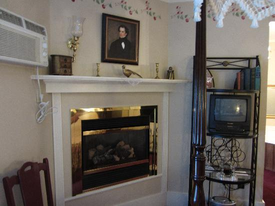 Rosewood Country Inn: Fireplace (Sorry we couldn't use it as it was summer)