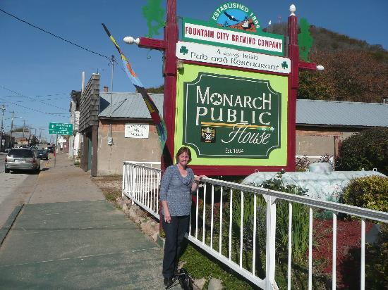 The Monarch Public House: Sign outside of the Monarch