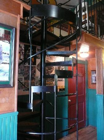 The Monarch Public House: Spiral staircase inside of the Monarch