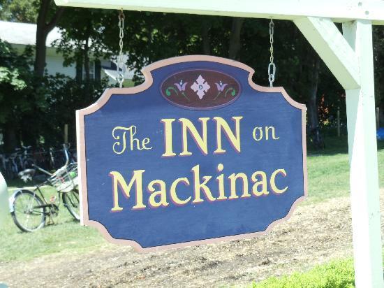 Inn on Mackinac: Front sign