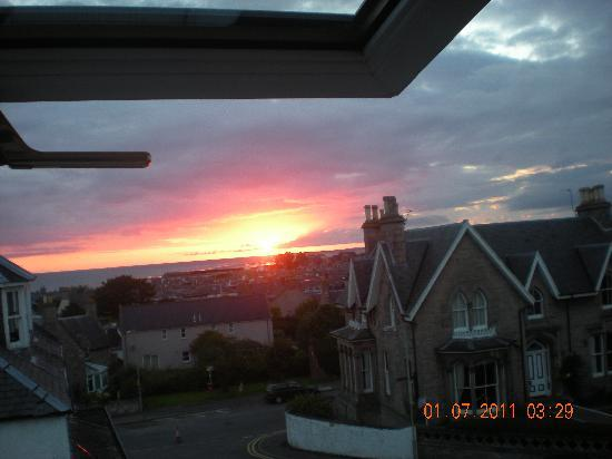 Hay Lodge: View from my room of the sun rising