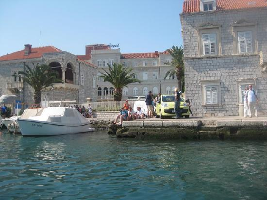 Hotel Lapad: View from hotel boat