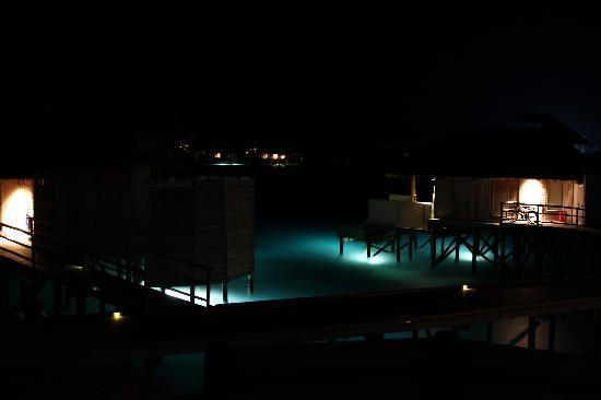 Six Senses Laamu: Water villa Night shot