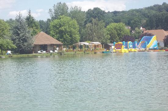 La Croix du Vieux Pont: View from the pedalo on the parc lake