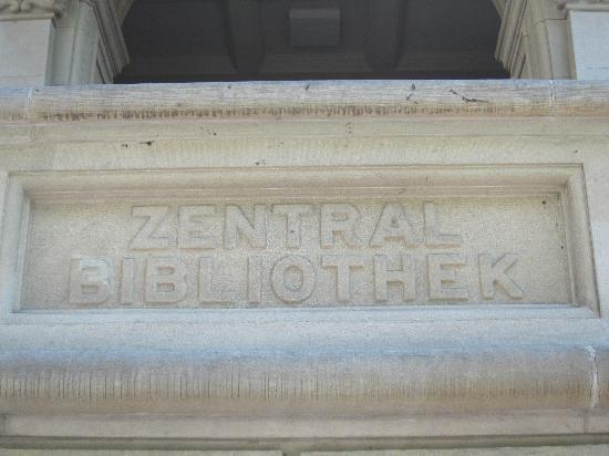 Zentralbibliothek: Beschriftung