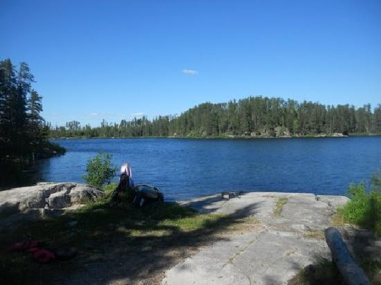 Voyageur Canoe Outfitters: View from our campsite