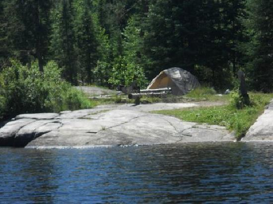 Voyageur Canoe Outfitters: Our campsite