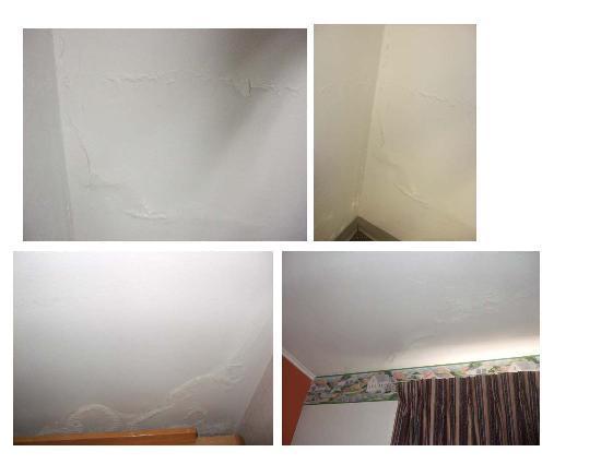 Americas Best Value Inn: various plaster, water damage