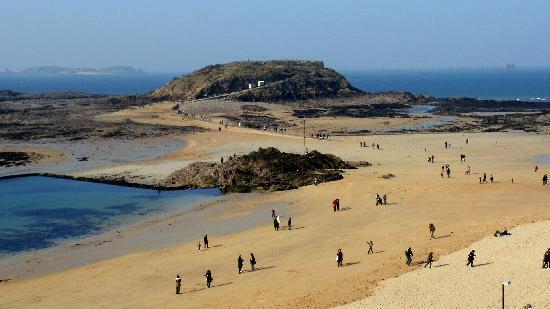 Saint-Malo, France : Playa en invierno
