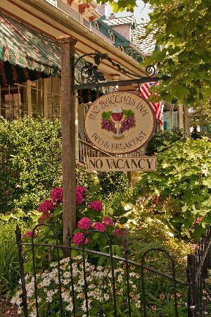 The Bacchus Inn: Bacchus Inn flying the Grand Union flag