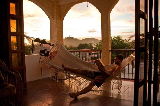 La Terraza Condominiums: The hammock hang-out on the terrace