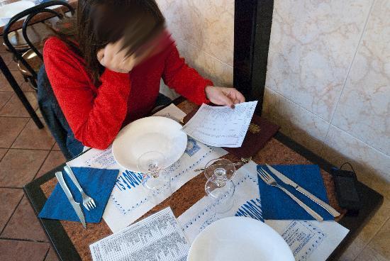 La Lonja del Pescado : tavolo e menù