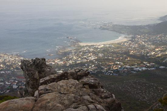Table Mountain Walks: View of Camps Bay from the top
