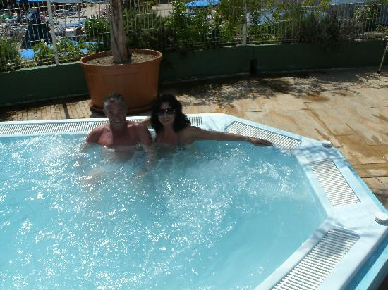 Presidente Hotel: my boyfriend and me in the presidente spar