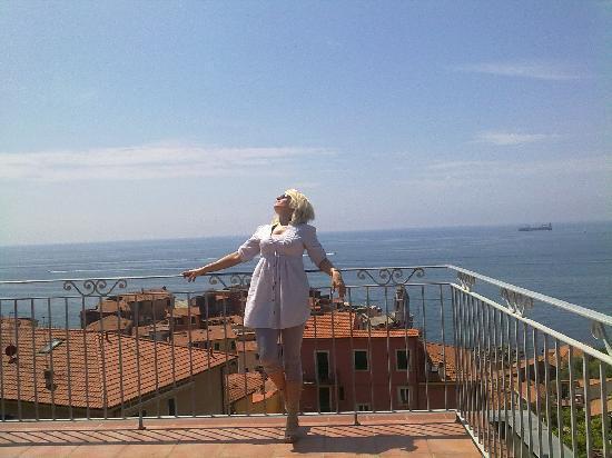 Pensione Ristorante Miramare: vista dalla terrazza dell'hotel