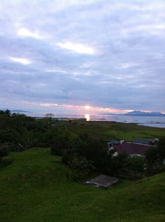 Arisaig, UK: sunset from the garden .... very lucky to have such weather