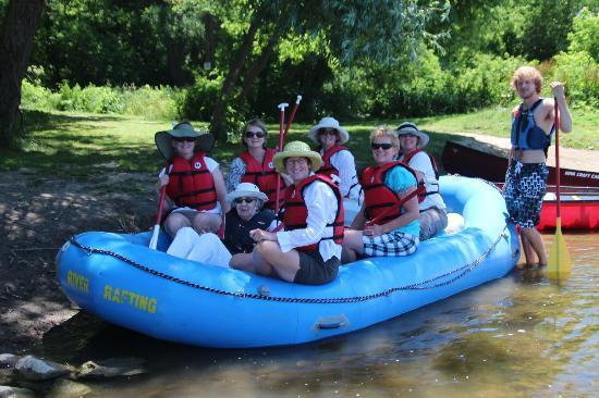 Grand River Rafting Company: Mom and the girls, with Jason standing by!