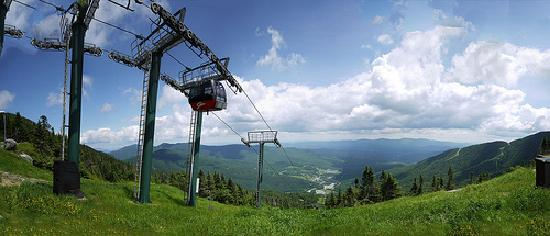 Stowe, VT: Panorama view from the top of the mountain.