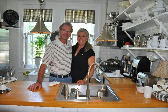 The Morning Glory Bed & Breakfast: The hosts...Renate and Klaus. Simply the best.