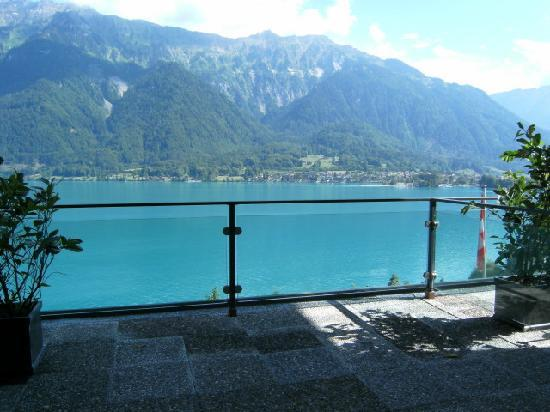 Hotel Brienzersee: Our view from the balcony door.
