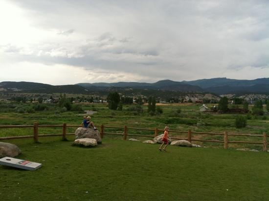 Eagle, CO: view from our table on one of several patios