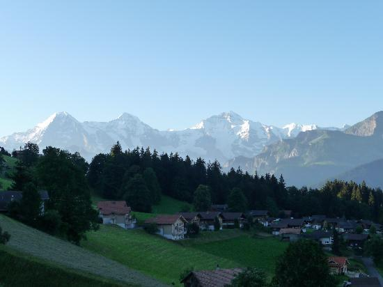 Alphotel Eiger: View from our room balcony