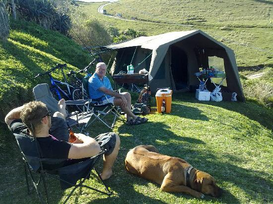 Coffee Bay, Zuid-Afrika: Our camp site with sea view - MAGIC