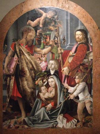 Museo Civico di Pistoia ( Palazzo del Commune) : ベルナルディーノ・デッティ作「ペルゴーラの聖母」