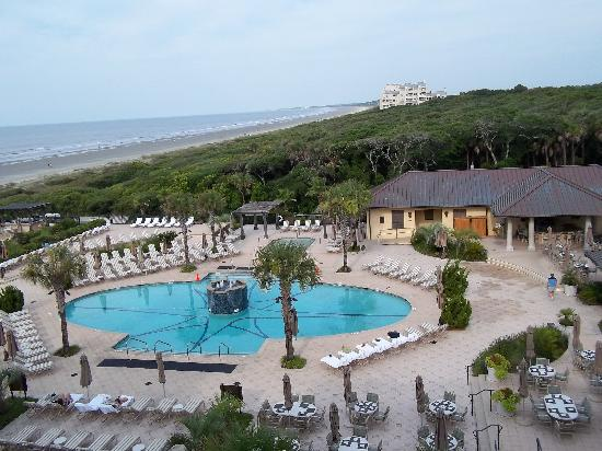 The Sanctuary Hotel At Kiawah Island Golf Resort View Of Pool And Beach From