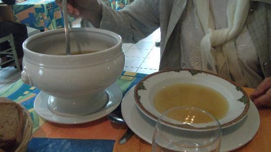 Restaurant Les Genets du Vignac: Le potage de légume du menu à 11€