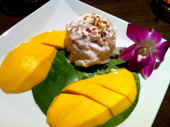 Lemongrass: Sweet Coconut Rice with mango