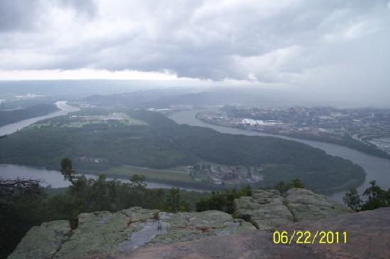 Lookout Mountain, TN: View of Moccasin Bend from Lookout Point