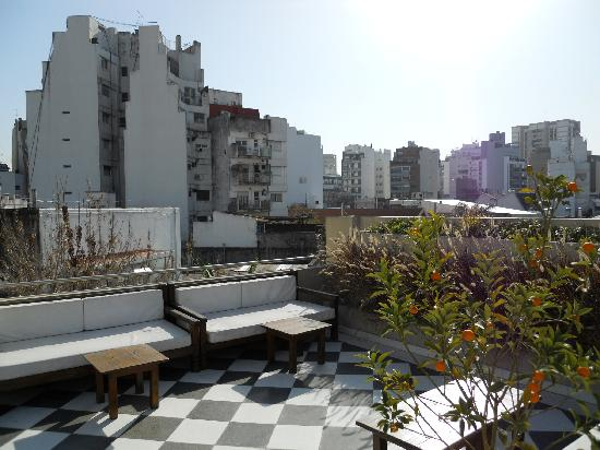 Magnolia Hotel Boutique : The roof top terrace in winter.