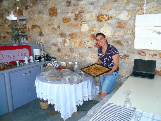 Studios Amfitriti : Le petit déjeuner d'Eléni