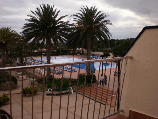 Hotel San Carlos : vue du balcon